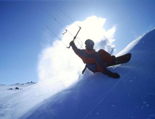 Snowkite au Col du Lautaret !