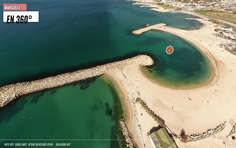 Le Spot de Kitesurf de Marseille en 360° !