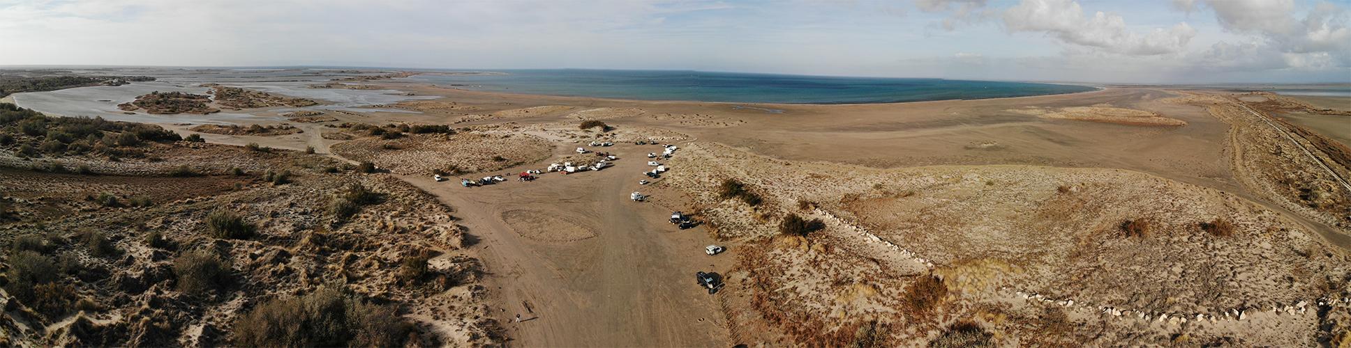 Photo Panoramique du Spot de Kitesurf de Beauduc en 2020
