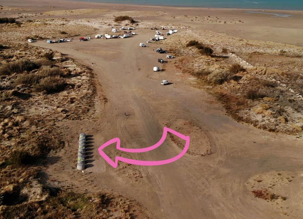 nouvelles poubelles spot de kitesurf beauduc